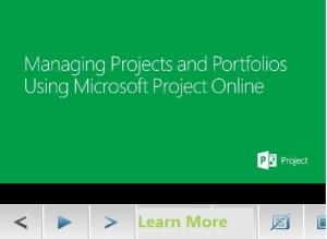 Project Online for portfolio management