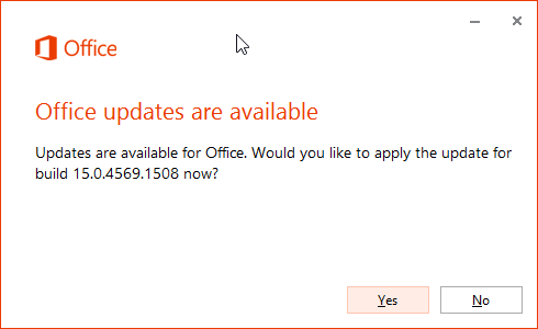 how to get office updates