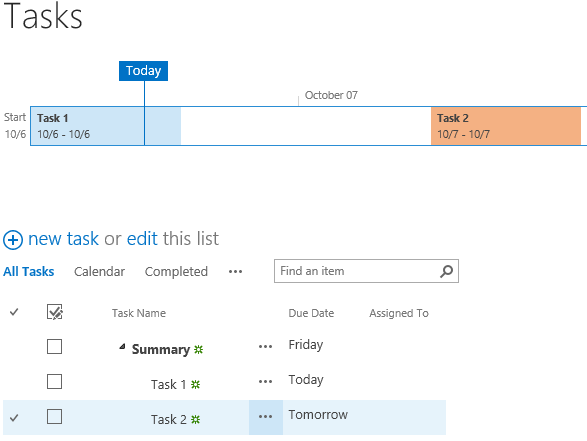 task management options with project server 2013 and project online
