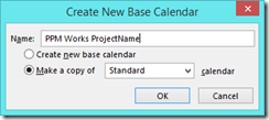 create new base calendar