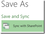 sync to sharepoint