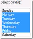 select days