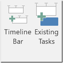 timeline bar and existing tasks