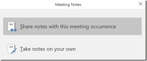 meeting notes options