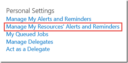 manage my resources' alerts and reminders