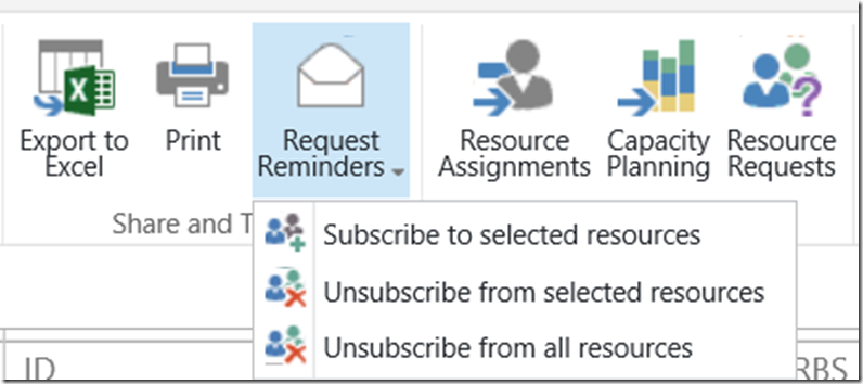 request reminders