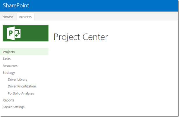 SharePoint project center