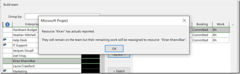 build team in microsoft project