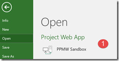 open project web app