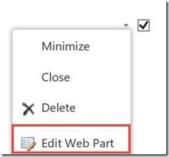 edit web part
