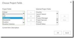 choose project fields