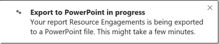export to powerpoint in progress