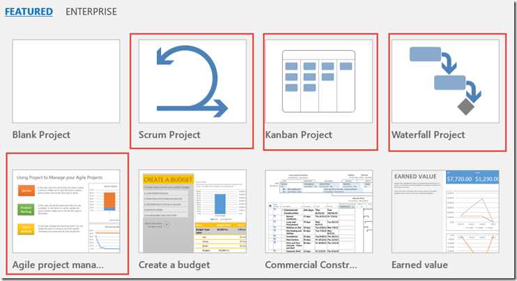 types of projects are scrum kanban waterfall and agile