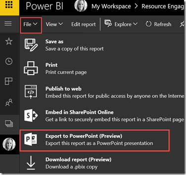 export to powerpoint preview