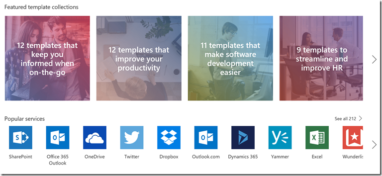 featured template collections and popular services