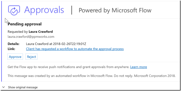 approvals powered by microsoft flow