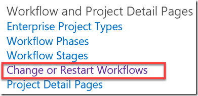 workflow and project detail pages