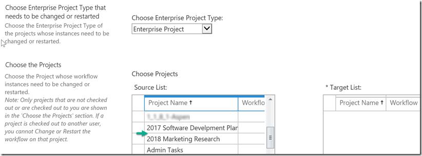 choose enterprise project type
