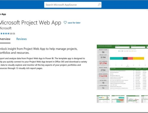 Microsoft Content Pack Renamed to Microsoft Project Web App