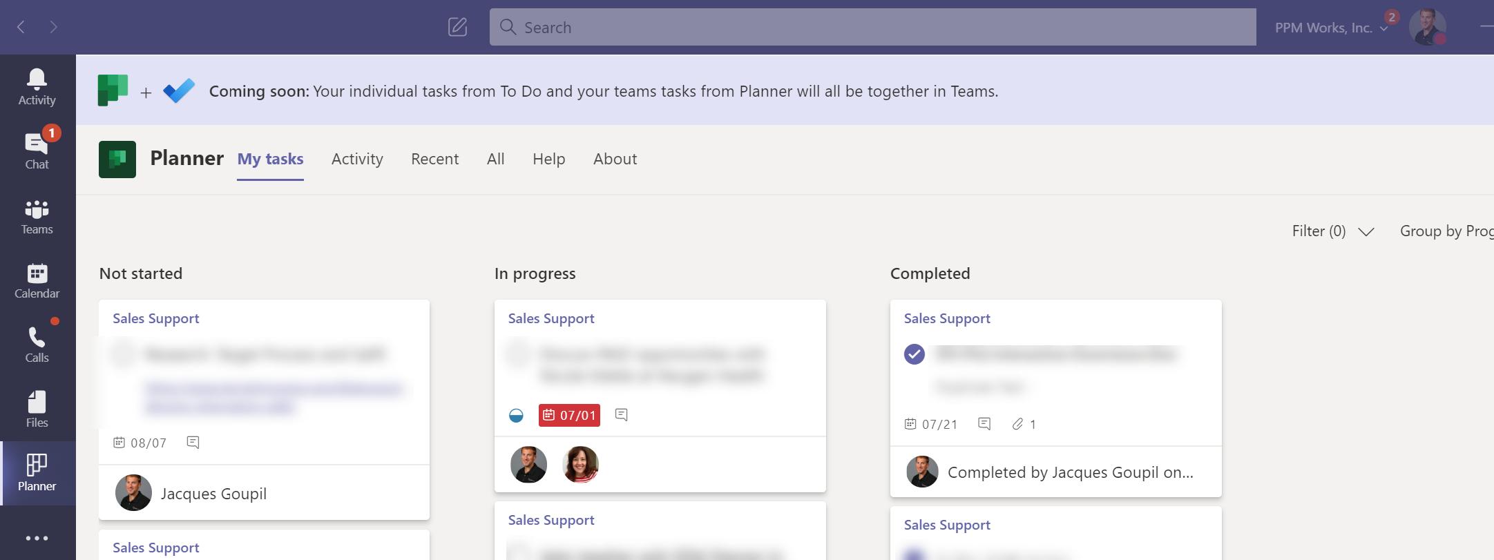 Microsoft Teams Tasks Announcement